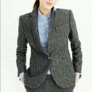 J. Crew Campbell Sparkle Sequin Wool Blazer Gray 6